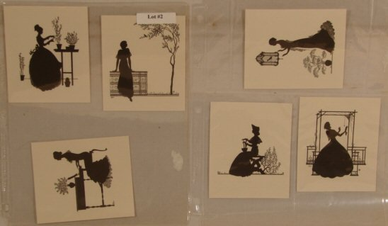 2: Wallace Nutting - Lot of 6 Unframed Silhouettes
