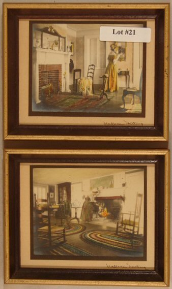 21: Wallace Nutting - Two Miniature Interior Scenes