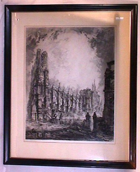 16: Louis Orr - Large Format Cathedral Etching