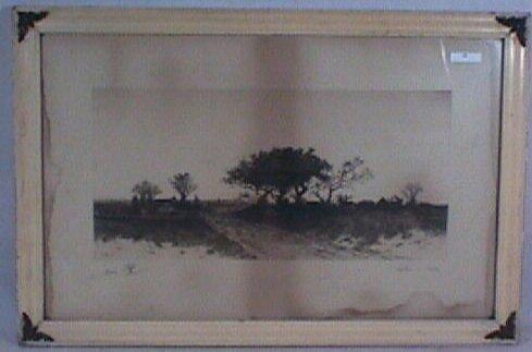 24: E Rost - 1893 Landscape Etching