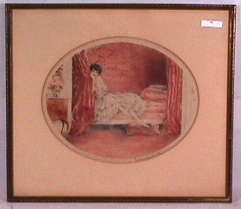 75: Original Louis Icart - L'Alcove Rose' (The Pink Alc