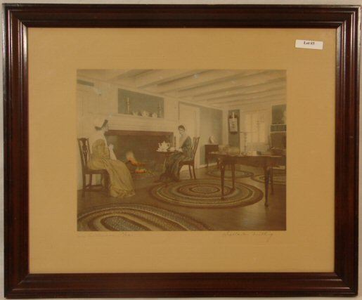 3: Wallace Nutting - An Afternoon Tea