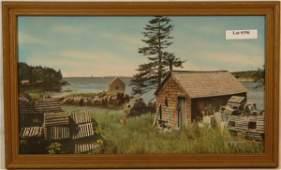 356: Charles Sawyer - Fish Houses, Bailey Island