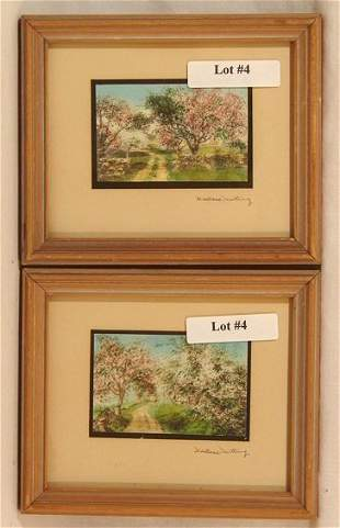 Wallace Nutting - Two Miniature Exterior Scenes