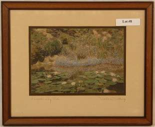 Wallace Nutting - A Small Lily Pool