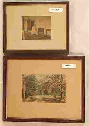 Wallace Nutting - Interior and Exterior Scene