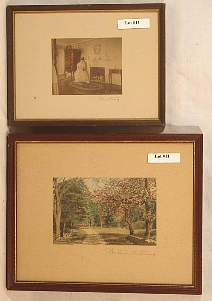 11: Wallace Nutting -  Interior and Exterior Scene
