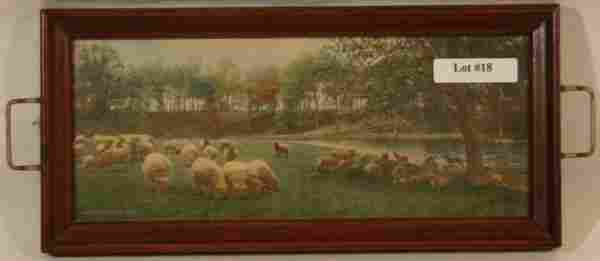 Wallace Nutting - Sheep Scene in Pin Tray