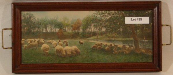 18: Wallace Nutting -  Sheep Scene in Pin Tray