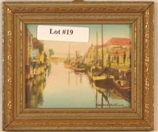 Wallace Nutting - Miniature Holland Scene