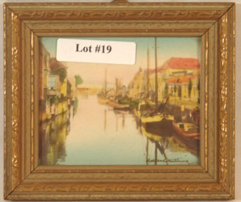 19: Wallace Nutting - Miniature Holland Scene