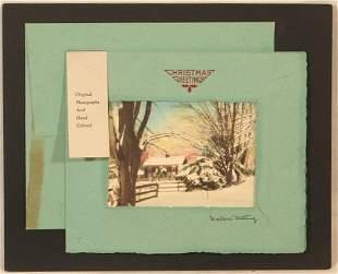 Wallace Nutting - Snow Christmas Card