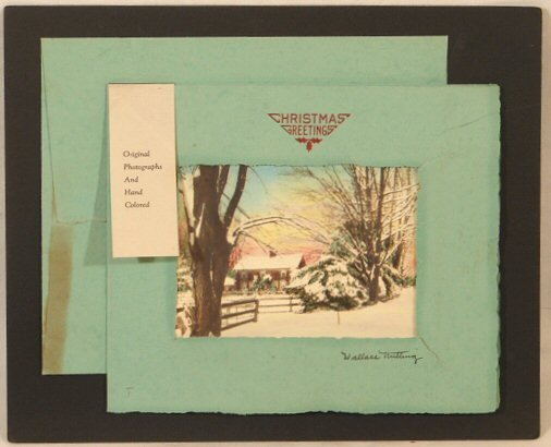 21: Wallace Nutting - Snow Christmas Card