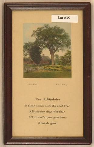Wallace Nutting - Rare Bachelor Greeting Card
