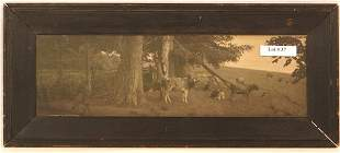 Wallace Nutting - Early B&W Cow Scene