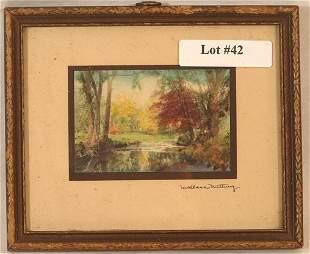 Wallace Nutting - Miniature Exterior Scene