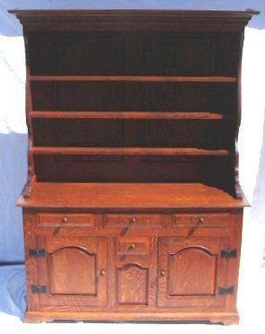 Wallace Nutting - #922 Oak Welsh Dresser