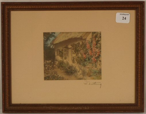 "24: Wallace Nutting - Untitled ""Hollyhock Cottage"""