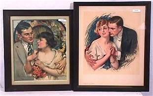 Kimball & McMain - Lot of 2 Pretty Girl Prints