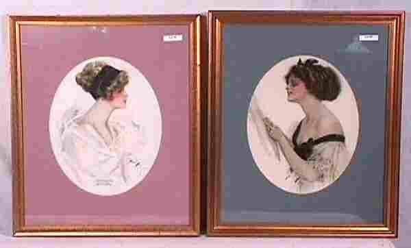 Harrison Fisher - Lot of 2 Pretty Girl Prints