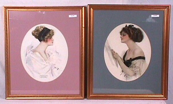 5: Harrison Fisher - Lot of 2 Pretty Girl Prints