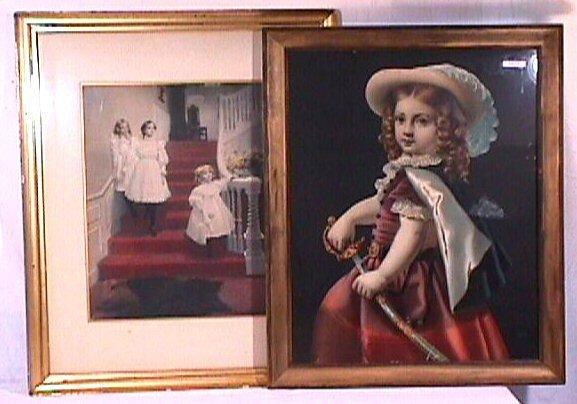 10: Two Large Vintage Prints with Children