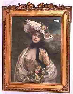 Martin Kovel - Pretty Girl Print - Ornate Victorian