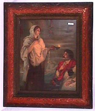 Pretty Girl Print in Ornate Victorian Frame