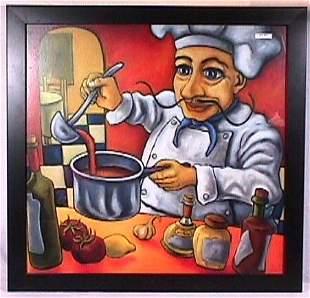 Modern Italian Cook Print