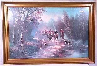 Pritchard - Large Format Hunt Scene