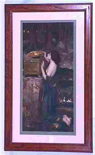 Unsigned Print of Girl & Treasure Chest