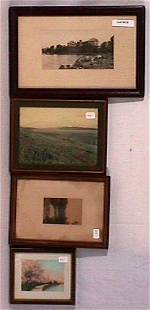 Photographer Unknown - Lot of 4 Exterior Scenes