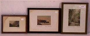 Fred Thompson & Burrowes - Lot of 3 Pictures
