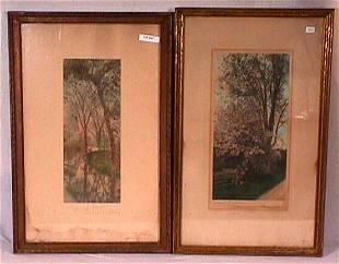Wallace Nutting - Lot of 2 Exterior Scenes