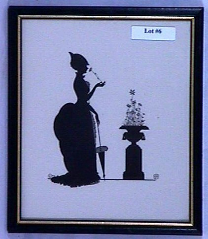 6: Wallace Nutting Silhouette - Girl Sniffs Flower