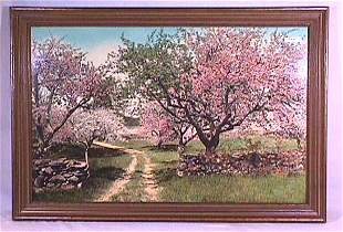 Wallace Nutting - Through the Orchard