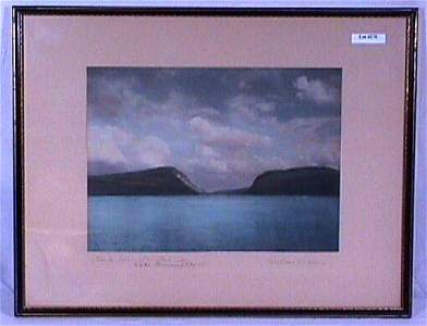170: Wallace Nutting - Clouds Over a Mountain Lake
