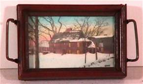 370: Wallace Nutting - Snow Scene in Pin Tray