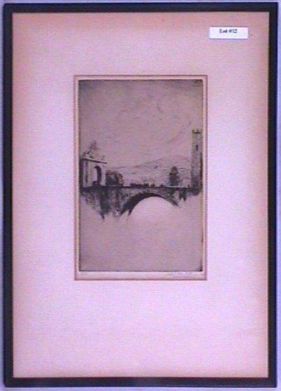 12: Juliet White Lewis Gross - Bridge Etching