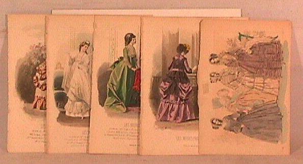 13: Fashion Prints - Five 19th c. French Fashion Prints