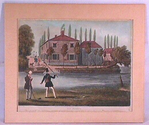 24: J Pollard - Fly Fishing - Hand Colored Lithograph