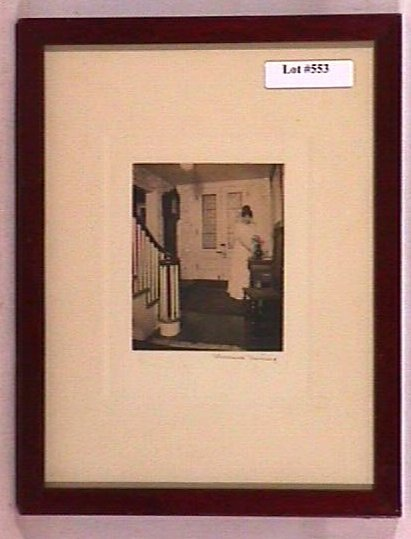 553: Wallace Nutting - Untitled Interior Scene