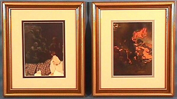 23: Maxfield Parrish - 2 Framed Prints