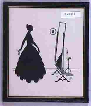 Wallace Nutting Silhouette - Mirror