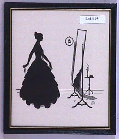 14: Wallace Nutting Silhouette - Mirror