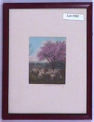 Wallace Nutting - Untitled Sheep