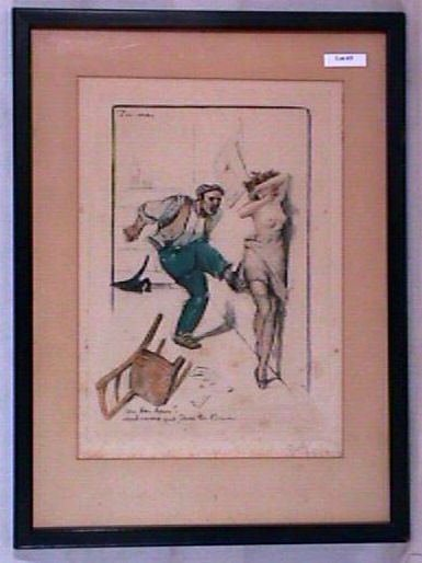 3: George Hoffman - Naughty French Color Litho