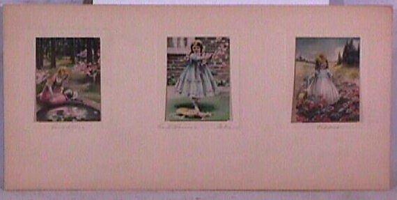 5: Bessie Pease Gutmann - Rare Colonial Triptych