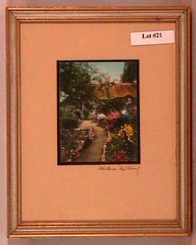 21: Wallace Nutting - Untitled English Garden Scene