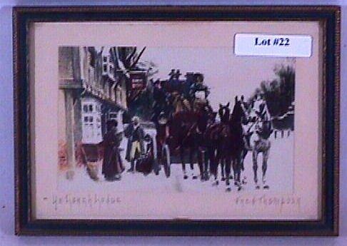 22: Fred Thompson - Ye Coach Lodge - Horses & Coach